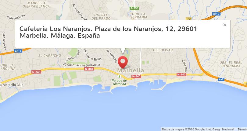 Direccion Cafeteria Los Naranjos Marbella